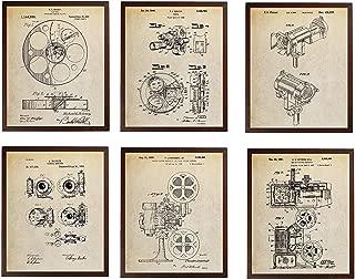Turnip Designs Film Reel 1915 Color Filter Camera Shutter Film Projector Stage Light Patent Poster Motion Picture Film Making Vintage TDP249