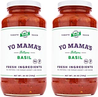 Keto Tomato Basil Pasta Sauce by Yo Mama's Foods – Pack of (2) – No..
