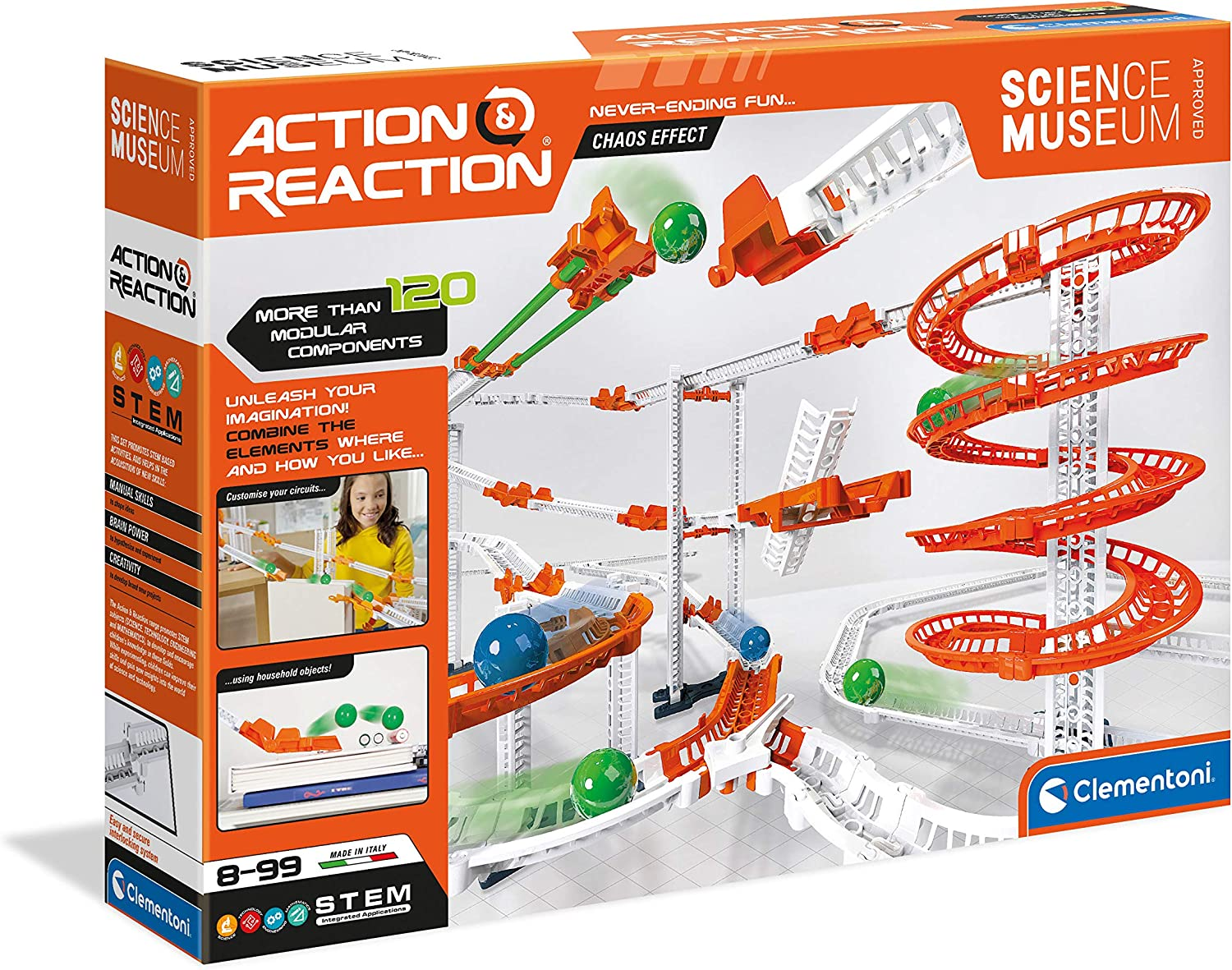 Selling and selling Clementoni Fees free!! 61730 Action Reaction Set-Marble Chaos Effect-Track