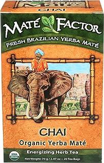 The Mate Factor Organic Yerba Mate Tea Chai -- 20 Tea Bags