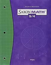 Saxon Math 5/4: Student Workbook