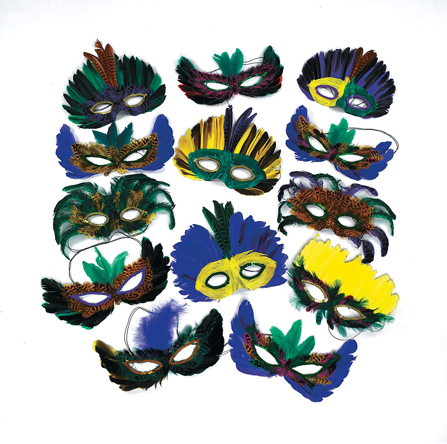 Fun365 Mega Masquerade Feather Mask Assortment