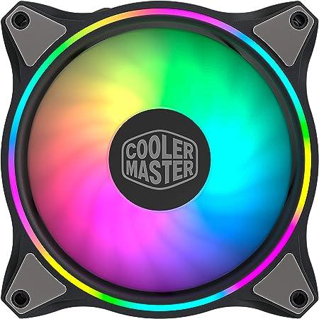 Cooler Master MasterFan MF120 Halo ARGB - Ventilateurs de Boîtier 120 mm, Éclairage RGB Adressable à Double Boucle, Pales Hybrides Incurvées, Capteur Intelligent Anti-Bourrage