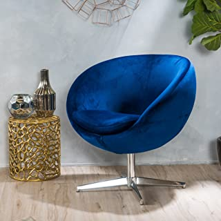 Christopher Knight Home Eden Navy Blue Velvet Modern Chair
