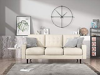 Container Furniture Direct Matte Velvet Mid Century Modern Tufted Living Room Sofa,..