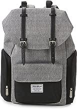 Eddie Bauer Legend Flap Top Diaper Bag, Grey/Black