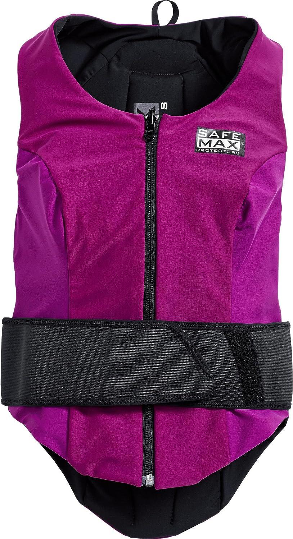 Safe Max Protektorenweste Motorrad Herren Und Damen Damen Wendeweste Mit Rückenprotektor 1 0 Schutzkl 2 Vio S Multipurpose Ganzjährig Textil Violett Bekleidung