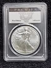 2017 America Silver Eagle First Edition - Number 1 of the Strike - $1 PCGS Premier MS70 - The Perfect Coin - US Mint