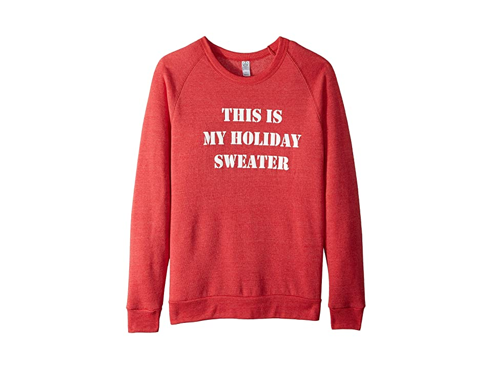 Alternative Graphic Champ (Eco True Red Holiday Sweater) Men
