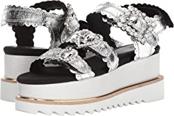 Jewel Buckle Platform Sandals