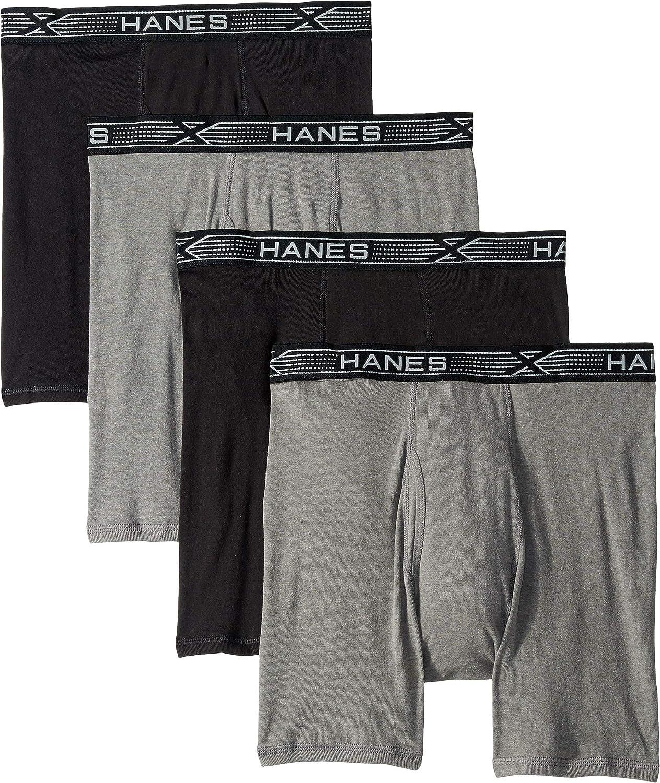 Hanes Platinum X-Temp Combed Cotton 4-Pack Boxer Briefs