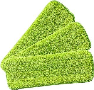 Ściereczki wymienne z mikrofibry z laminatem – spray mop wkład zamienny do głowy, 3 wkładki, nadają się do prania, wielokr...