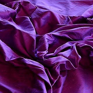 "44"" Wide - Iridescent Purple Dupioni Silk, 100% Silk Fabric, by The Yard"