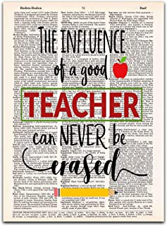 The Influence of a Good Teacher, Teacher Appreciation Gift, Vintage Dictionary Page Print