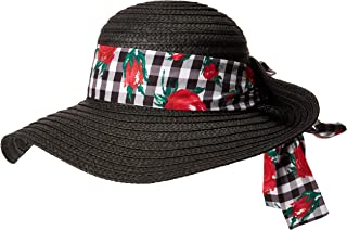 Betsey Johnson - Sombrero para el Sol, BL2612, para Mujer, Negro, Talla única