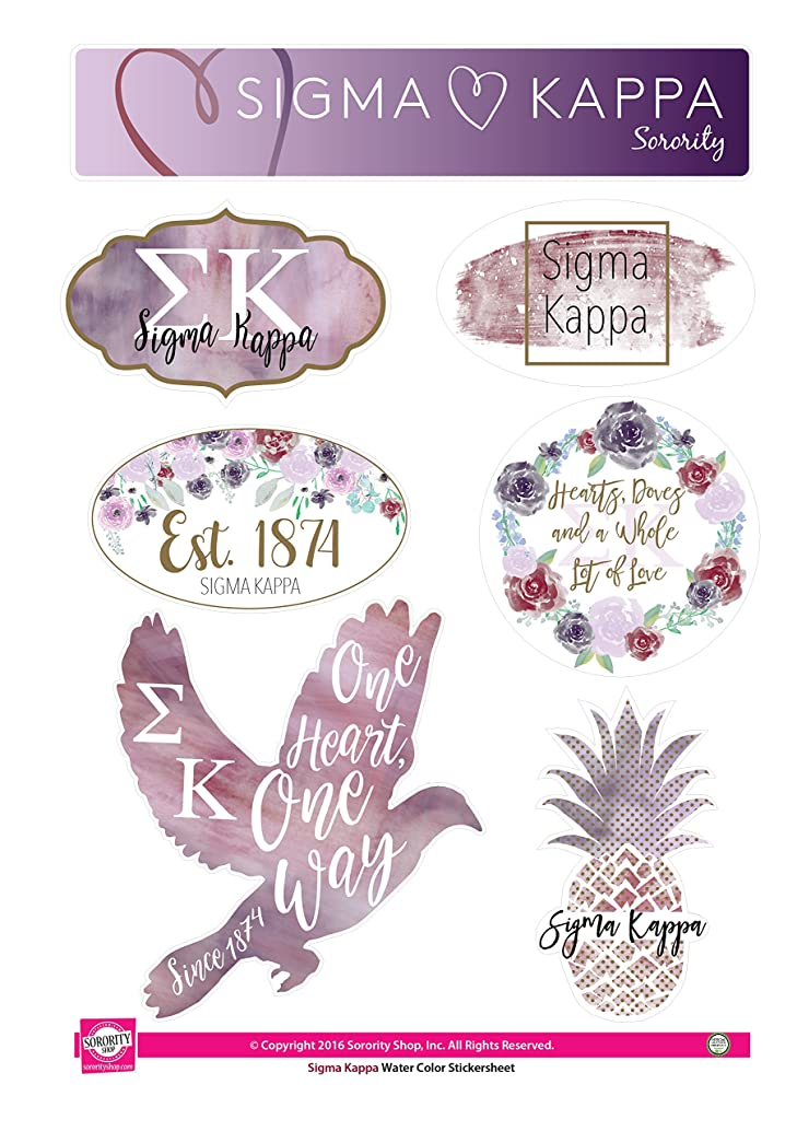 Sigma Kappa - Sticker Sheet - Watercolor Theme