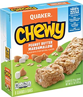 Quaker Chewy Granola Bars, Peanut Butter Marshmallow, 8 Count