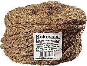 Humusziegel - Cuerda de coco de 7 mm hecha de fibra de coco para hobby y jardín 50 m