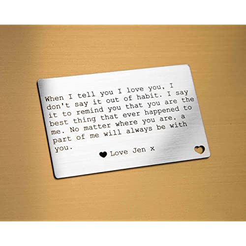 f33d47a9e6da2 Personalised Wallet Card Insert I Love You Gifts For Him Her - When I Tell