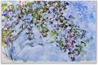 Monet Wall Art Collection The The Rose Bush, 1925 Canvas Prints Wrapped Gallery Wall Art | Stretched and Framed Ready to Hang 36X48,