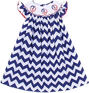 Baby Girls Smocked Dress Peace Sign