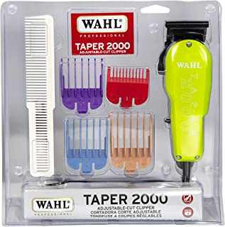 Wahl Professional Taper 2000 Adjustable Cut Clipper #8472-700 – Assorted Color Blade Attachments