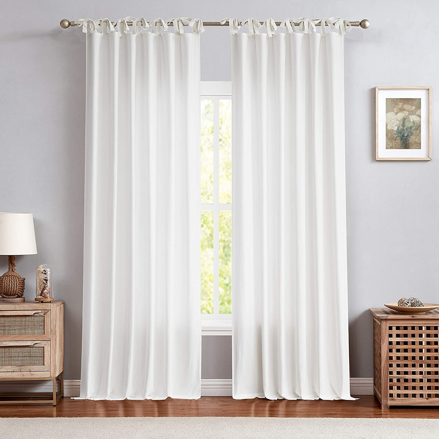 Central Park White Tie Top Curtain Treatment Sheer Semi New popularity favorite Window L