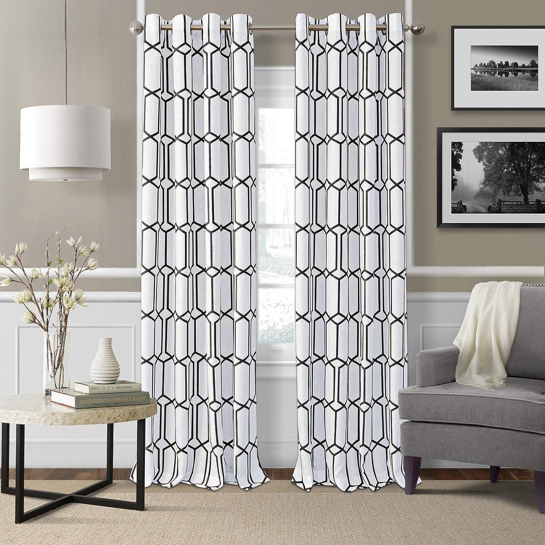 Elrene Home Fashions Kaiden Geometric Room Darkening Window Curtain Panel, 52