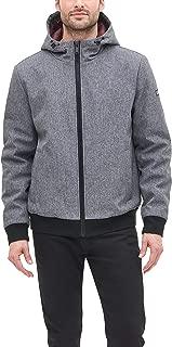 DKNY Men's Softshell Hooded Bomber Jacket