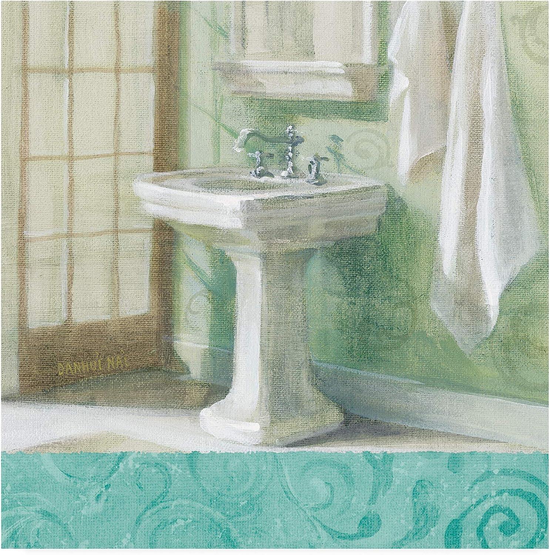 Trademark Fine Art Refresh Bath Border II by Danhui NAI, 14x14