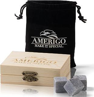 Premium Whisky Stones Gift Set de Amerigo- ¿Aguar tu Whisky