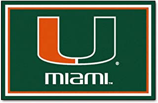 FANMATS NCAA University of Miami Hurricanes Nylon Face 4X6 Plush Rug