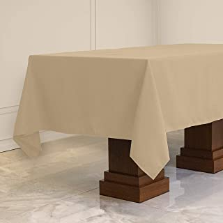 Kadut Rectangle Tablecloth (60 x 84 Inch) Beige Rectangular Table Cloth for 5 Foot Table | Heavy Duty | Stain Proof Table ...
