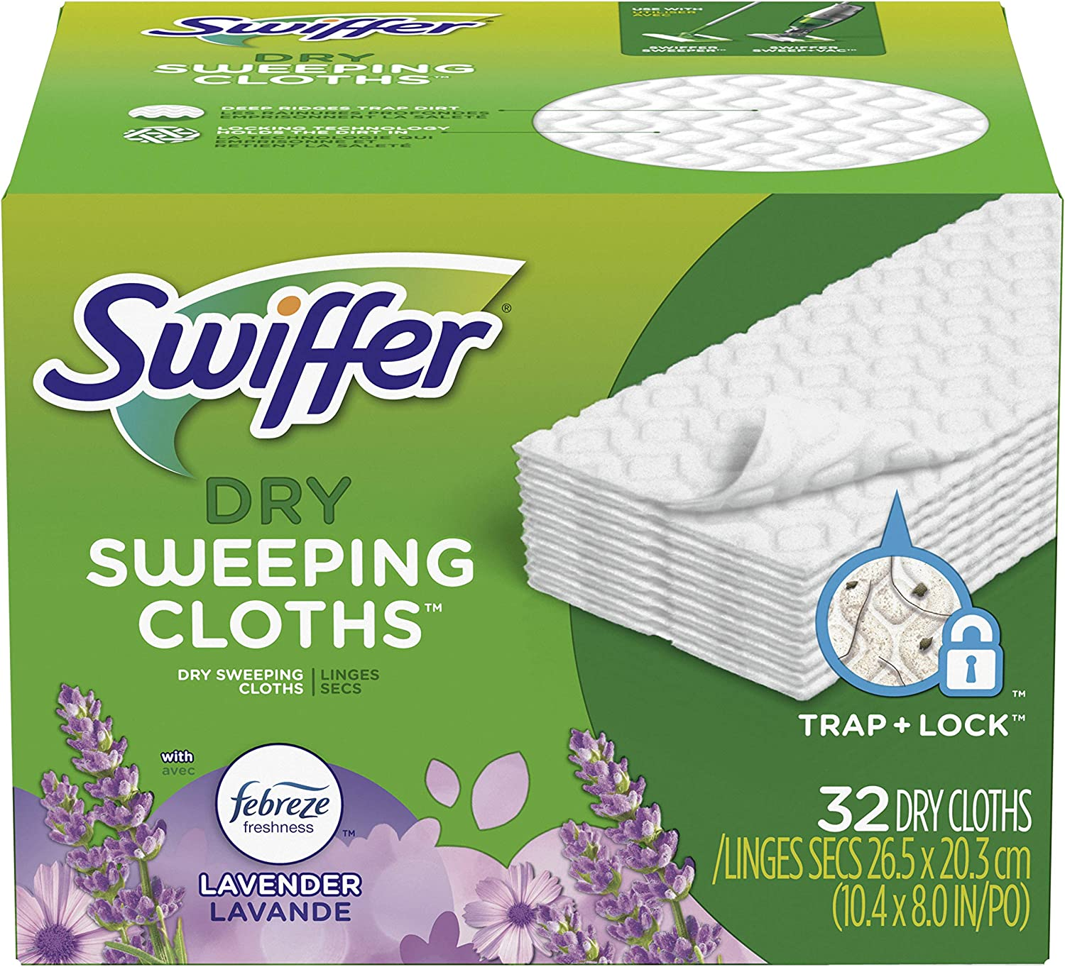 Translated Swiffer Sweeper Dry Sweeping Cloths Fresh Febreze Scent 2021 model Lavende