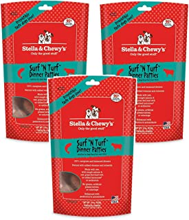 Stella & Chewy's Freeze Dried Surf & Turf (Beef and Salmon) Dinner for Dogs, 45 Ounce