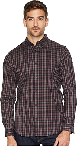 Long Sleeve Heather Multi Plaid Button Down