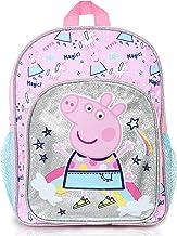 Peppa Pig Kinder Kinderrucksack Rosa Mit Glitzer | Rucksäcke Mädchen | Kinder Rucksack Kindergarten Mit Regenbogen Und Einhorn | Schultasche Für Mädchen Und Kinder | Kinderrucksack Kleinkinder