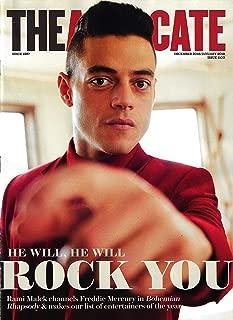 THE ADVOCATE Magazine December 2018 January 2019 RAMI MALEK Cover as Freddy Mercury in Bohemian Rhapsody