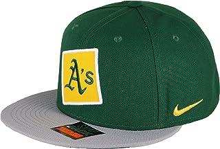 watch 18ba5 44e10 Nike Men s Oakland A s True City Just Do It Snapback Cap One Size Black  Green