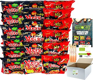BUNDLES FOR YOU - Samyang Hot Ramen Noodles - Schärfste Nudeln der Welt Set - Vorteilspack 18x140g 6 statt 5 Portionen pro Sorte - Korean Fire Noodle Set 2