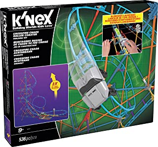 K'NEX Crossfire Chaos Roller Coaster Building Set Amazon Exclusive