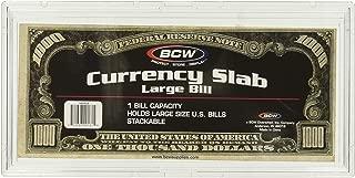 (1) US Currency Paper Money Bill Protector Slab Holder for Large Older Bills by BCW