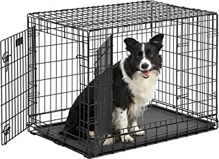 Midwest Ultima Pro (Professional Series & Most Durable Dog Crate) | Extra-Strong Double Door Folding Metal Dog Crate w/Div...
