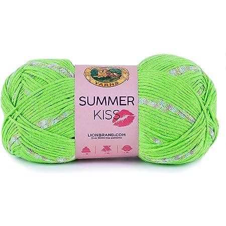 Earl Grey Lion Brand Yarn 522-150 Summer Kiss Yarn Pack of 3 skeins