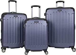 Kenneth Cole Reaction Renegade 3-Piece Luggage Expandable 8-Wheel Spinner Lightweight Hardside Travel Suitcase Set, Smokey...