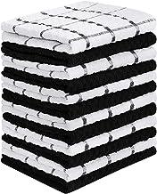Utopia Towels - 12 Toallas de cocina (38 x 64 cm, negro)