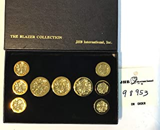 JHB Buttons, The Blazer Collection, Gold Tone. Nib