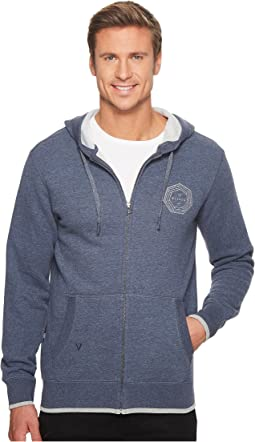 VISSLA - Waverly Full Zip Heavy Weight Fleece Top