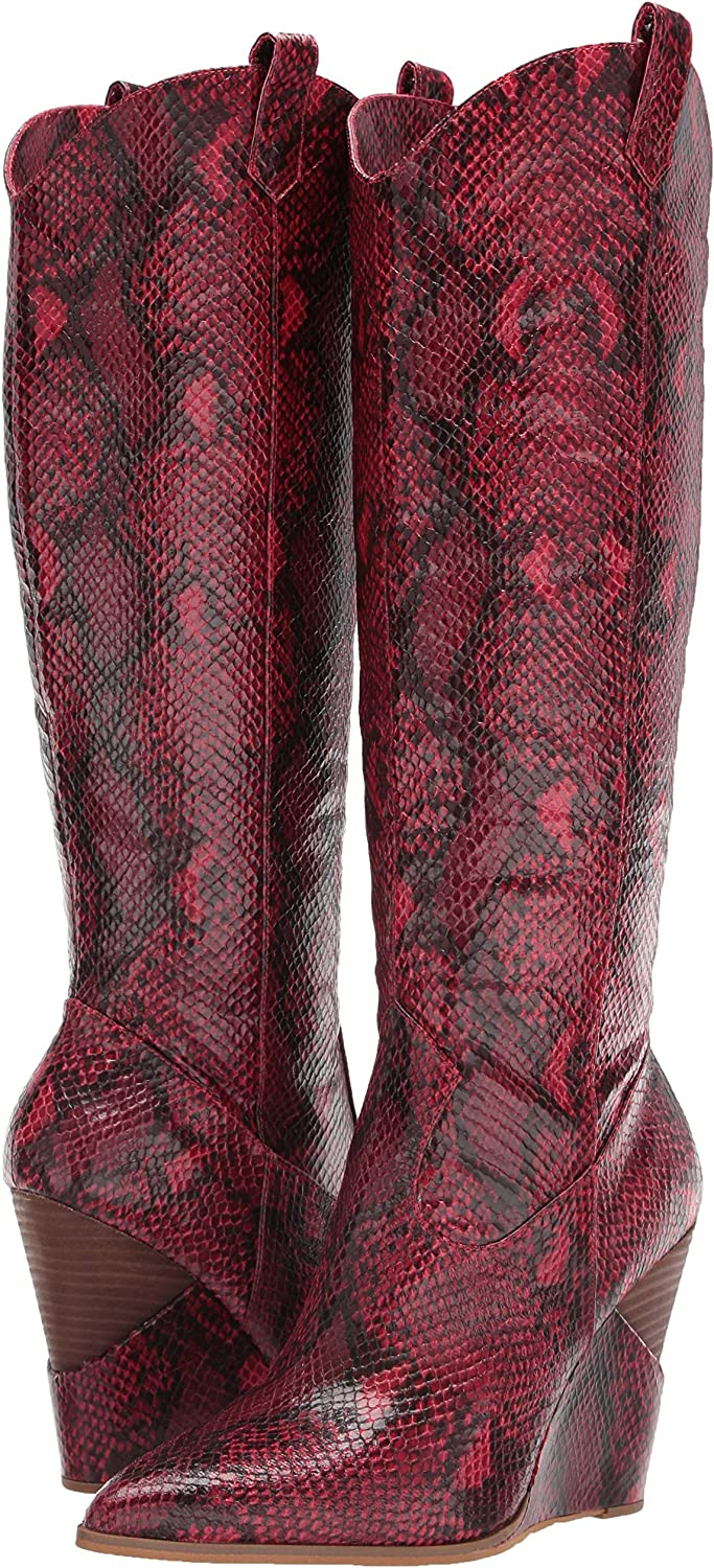 Jessica Simpson Women's Havrie Western Wedge Tall Knee-High Boot