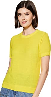 ABOF Women's Synthetic Pullover (BOA19AWWWSW3005581_Yellow_S)